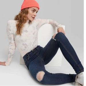 Wild fable high rise distressed skinny jeans 8